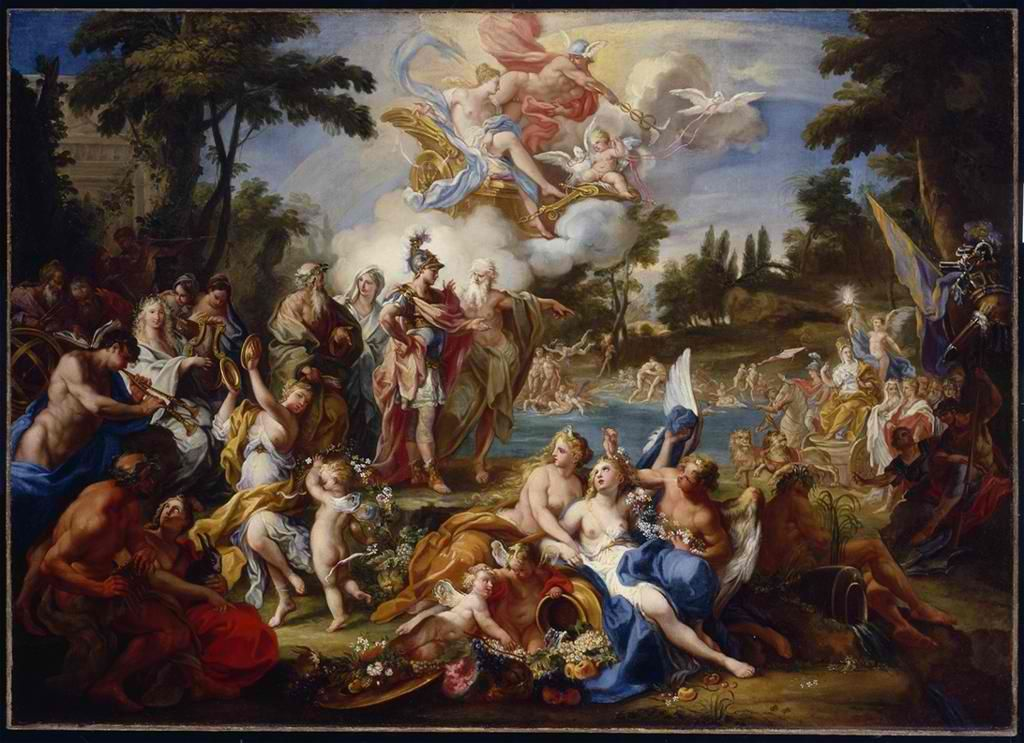 Sebastiano Conca, The Vision of Aeneas in the Elysian Fields, c. 1735-40